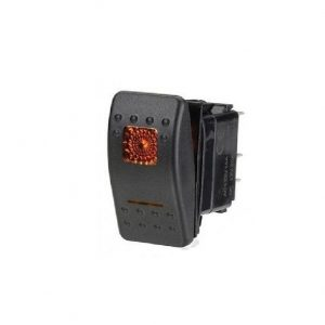 Rocker Switch Amber on & off light 12-24V volt