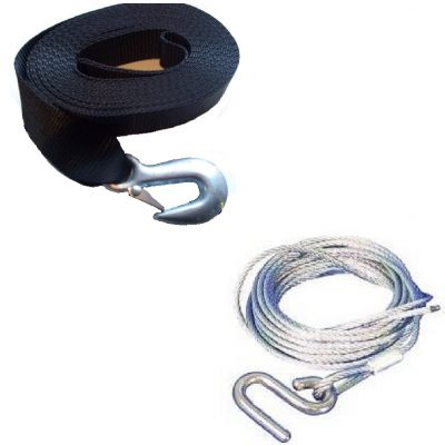 Winch Straps and Parts
