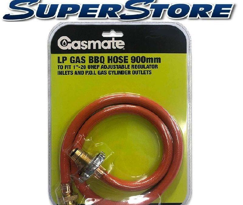 1″-20 UNEF LP GASMATE BBQ hose 900mm BOM to POL