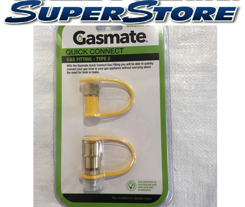 GASMATE Quick Connect Gas Fitting Suits 3/8″ SAE BBQ Propane gas hose
