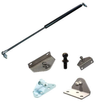Gas struts and fittings
